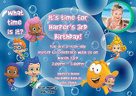 bubble guppies birthday party invitation what u0027s it worth