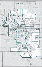 Calgary Map Final Report U2013 Alberta Redistribution Federal Electoral Districts