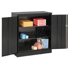 metal storage cabinet with doors cabinets wall mount counter height tennsco counter high metal