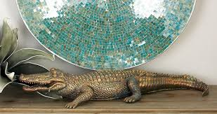 cole u0026 grey polystone alligator figurine u0026 reviews wayfair