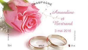 etiquettes mariage etiquette personnalisée pour bouteille mariage et alliances