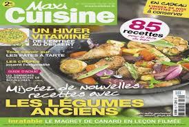 abonnement magazine cuisine abonnement maxi cuisine unique abonnement magazine editions bauer