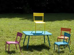 chaise de jardin enfant chaise de jardin enfants empilable aluminium lattes