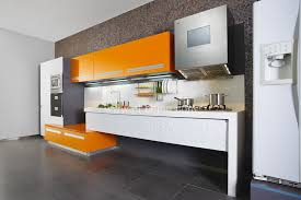 Flat Pack Kitchen Cabinets by Orange Color Painting Lacquer Furniture Flat Pack Kitchen Cabinet