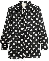 black polka dot blouse gucci bow polka dot silk chiffon blouse black where to buy
