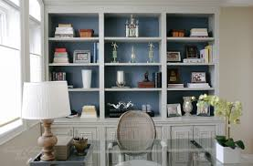 Home Office Built In Furniture Diy Built In Office Cabinet Glam Living