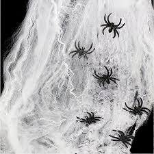 websun halloween spider web white spider cob webs decoration