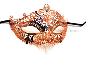 gold masquerade mask luxury metal laser cut womens masquerade mask