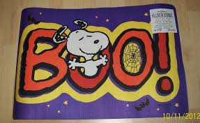 Snoopy Rug Peanuts Snoopy Dog Boo Halloween Mat Rug Outdoor Indoor New Cute