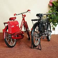 metal ornaments home decor creative ultra vintage bike men s bike with purse handmade metal