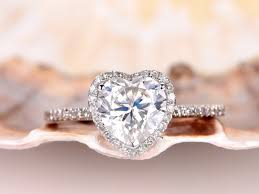 conflict free engagement rings 8mm heart shape moissanite engagement ring moissanite ring