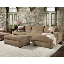 Brown Sectional Sofa With Chaise Furniture Velvet Sectional Sofa With Chaise On Carpet