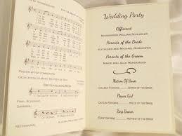 wedding program booklets booklet style wedding program basilica and holy spirit chapel