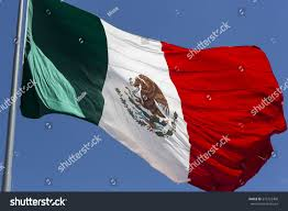 Picture Of Mexican Flag Mexican Flag Flying Blue Sky High Stock Photo 575722408 Shutterstock