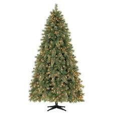 time pre lit 7 5 carson pine artificial tree