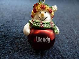 ganz personalized name snowman jingle bell ornament r thru z ebay