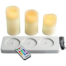 vonhaus rechargeable electric candles set of 3 x