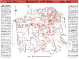 Map Of San Francisco Districts by Municipal Railway Map San Francisco California Mappery Printable