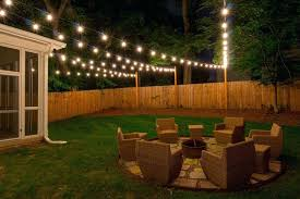 Backyard Lights Ideas Modern Backyard Lights Wedding Lighting Ideas On Fence String