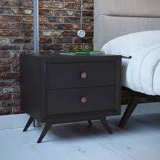 Cherry Nightstand With Drawers Bedroom Fancy Tall Modern Nightstand Gorgeous Tall Narrow Cherry