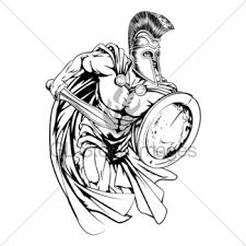 spartan roman or trojan gladiator ancient greek warrior gl stock