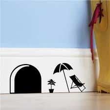aliexpress com buy 3d funny cartoon mouse hole wall stickers for