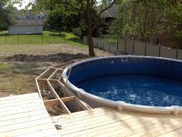 above ground pool deck kits amazing above ground pool deck