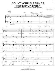 Count Your Blessings Lyrics And Chords Sheet Digital Files To Print Licensed Eddie Fisher Digital
