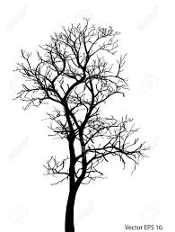 dead tree without leaves vector illustration sketched eps 10