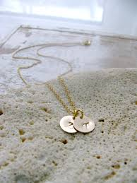 14k gold personalized necklace initial necklace 14k gold disc necklace personalized necklace custom