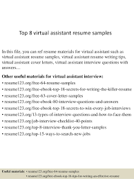 resume for a daycare job top 8 virtual assistant resume samples 1 638 jpg cb u003d1429929606