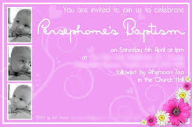 Baptism Invitation Cards Birthday And Baptism Invitations Birthday And Baptism Invitation