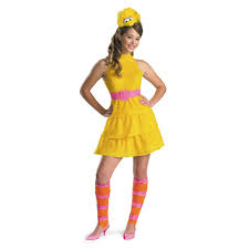 girls halloween costumes amazon com disguise sesame street big bird teen girls costume