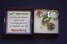 60 birthday gifts lucky sixpence keepsake charm keyring 60th birthday gift box