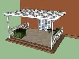 Attached Pergola Plans by Attached Pergola Plans Youtube