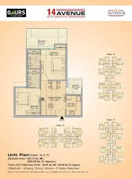 Smart Floor Plan by Gaur City 14th Avenue Floorplan Gaur Smart Homes