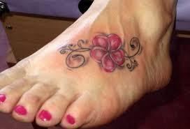 small colorful hawaiian flower tattoo on foot tattooimages biz