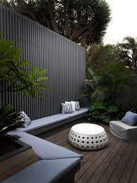Modern Backyard Black Garden Screen Modern Home Pinterest Living Spaces