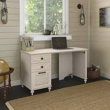 White Desk Amazon Com Kathy Ireland Office Volcano Dusk 51w Desk With 3