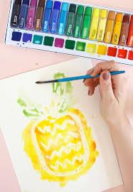 watercolor art resist painting tutorial consumer crafts