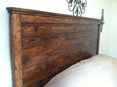 rustic headboard reclaimed wood with non by pineyflatswoodworks