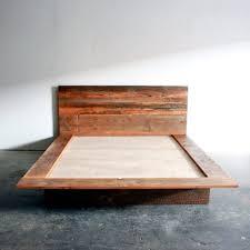 Reclaimed Wood Platform Bed Reclaimed Wood Platform Bed Barn Wood Bed Frame By Wearemfeo