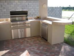 Outside Kitchen Cabinets Kitchen L Shaped Design Of Outdoor Kitchen Grills Outdoor