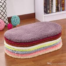 Coral Bath Rugs Coral Fleece Bath Mats Floor Protection Mat Oval Bedroom Kitchen
