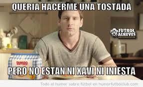 Memes Sobre Messi - meme messi anuncio pan bimbo tostada sin xavi inie by mequ3trefe