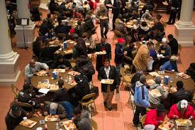 Soup Kitchens In New York by At A Manhattan Soup Kitchen Food On The Table And Chops On The