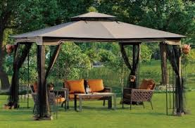 gazebo mosquito netting ez pop up tent instant patio gazebo canopy shade w mosquito netting