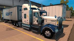 kenworth w900 engine swift transportation kenworth w900 skin updated american truck