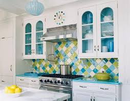 Modern Wall Tiles  Creative Kitchen Stove Backsplash Ideas - Colorful backsplash tiles