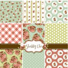 shabby chic rose patterns and seamless backgrounds ideal for